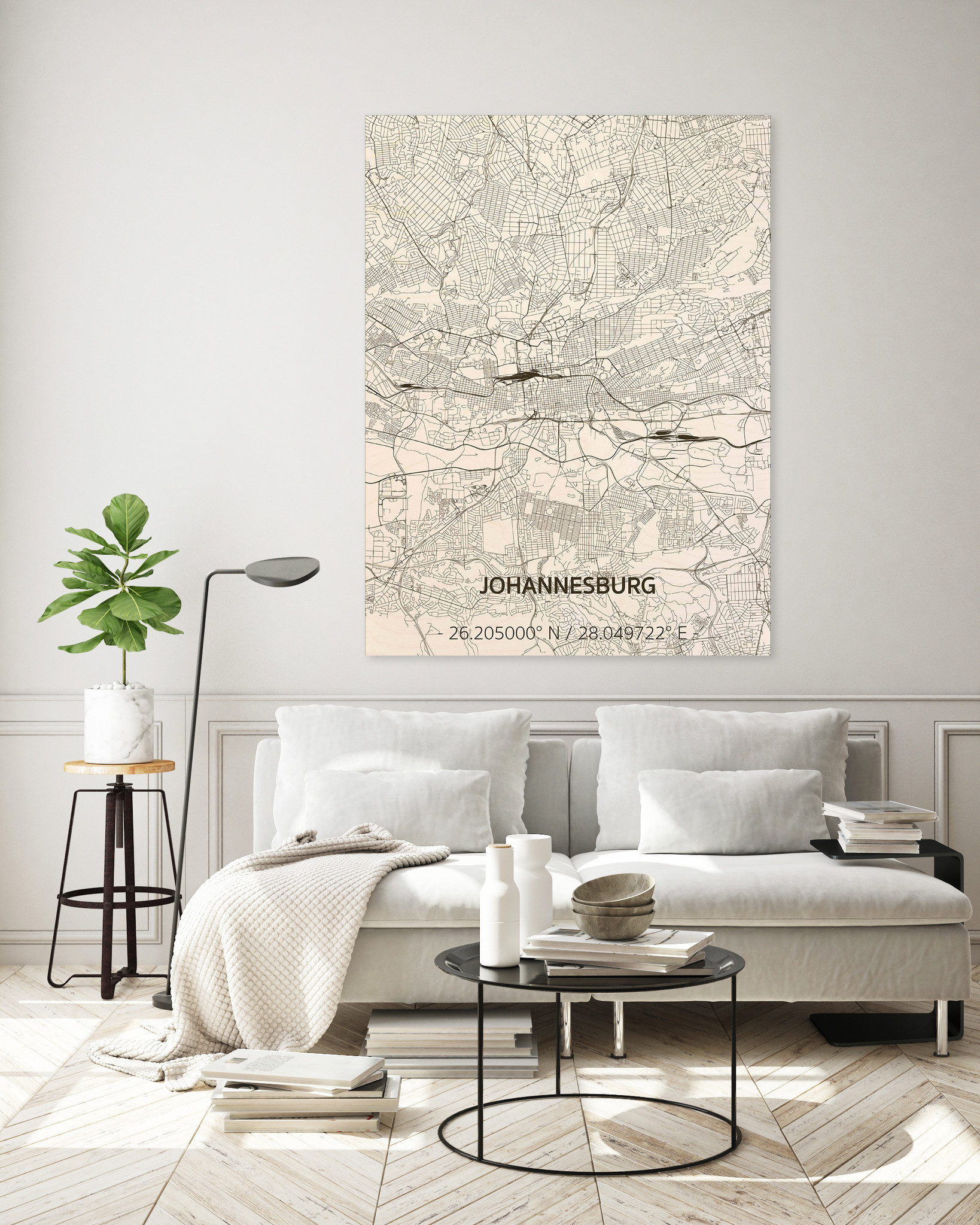 Citymap Johannesburg | houten wanddecoratie-2