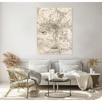 Stadtplan Namur | Wanddekoration Holz