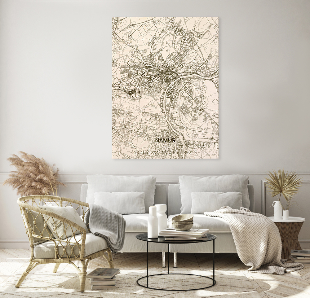 Stadtplan Namur | Wanddekoration Holz-2