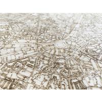 Citymap Cuijk   wooden wall decoration