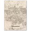 WOODEN WALL DECORATION Leeuwarden CITYMAP