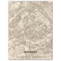 WOODEN WALL DECORATION GRONINGEN CITYMAP