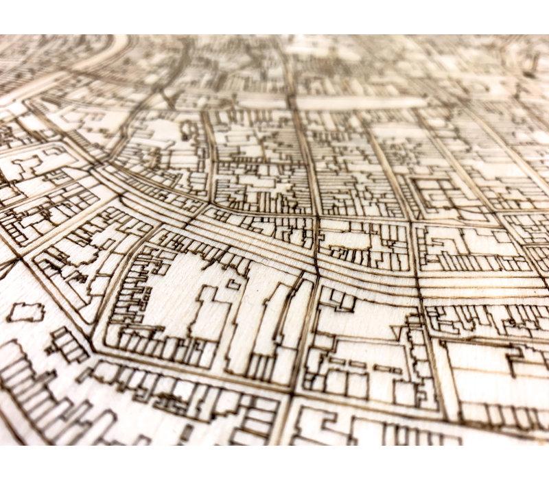 Citymap Groningen | houten wanddecoratie