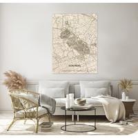 Citymap Schijndel | houten wanddecoratie