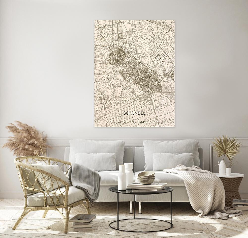 Citymap Schijndel | houten wanddecoratie-2