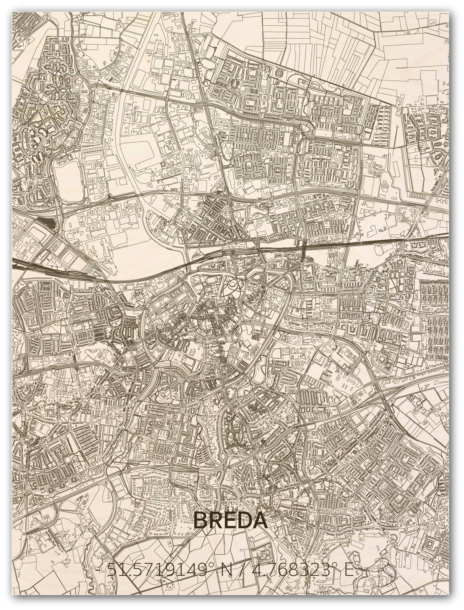 WOODEN WALL DECORATION Breda CITYMAP-1