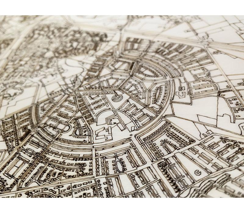 Citymap Oudewater | houten wanddecoratie