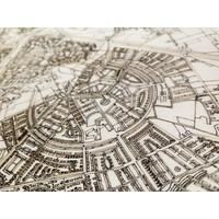 Stadtplan Nîmes   Wanddekoration Holz