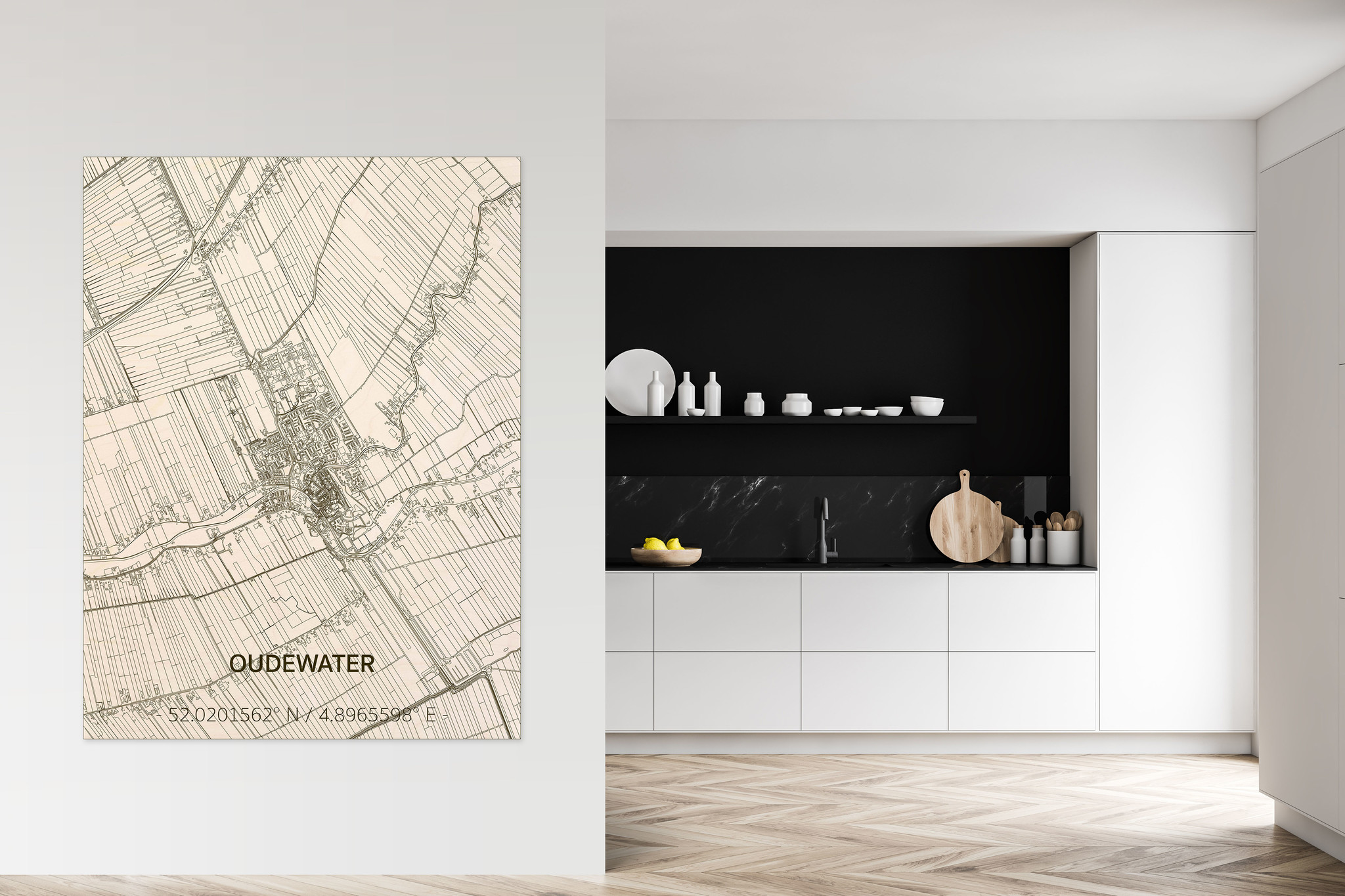 Citymap Oudewater | wooden wall decoration-2