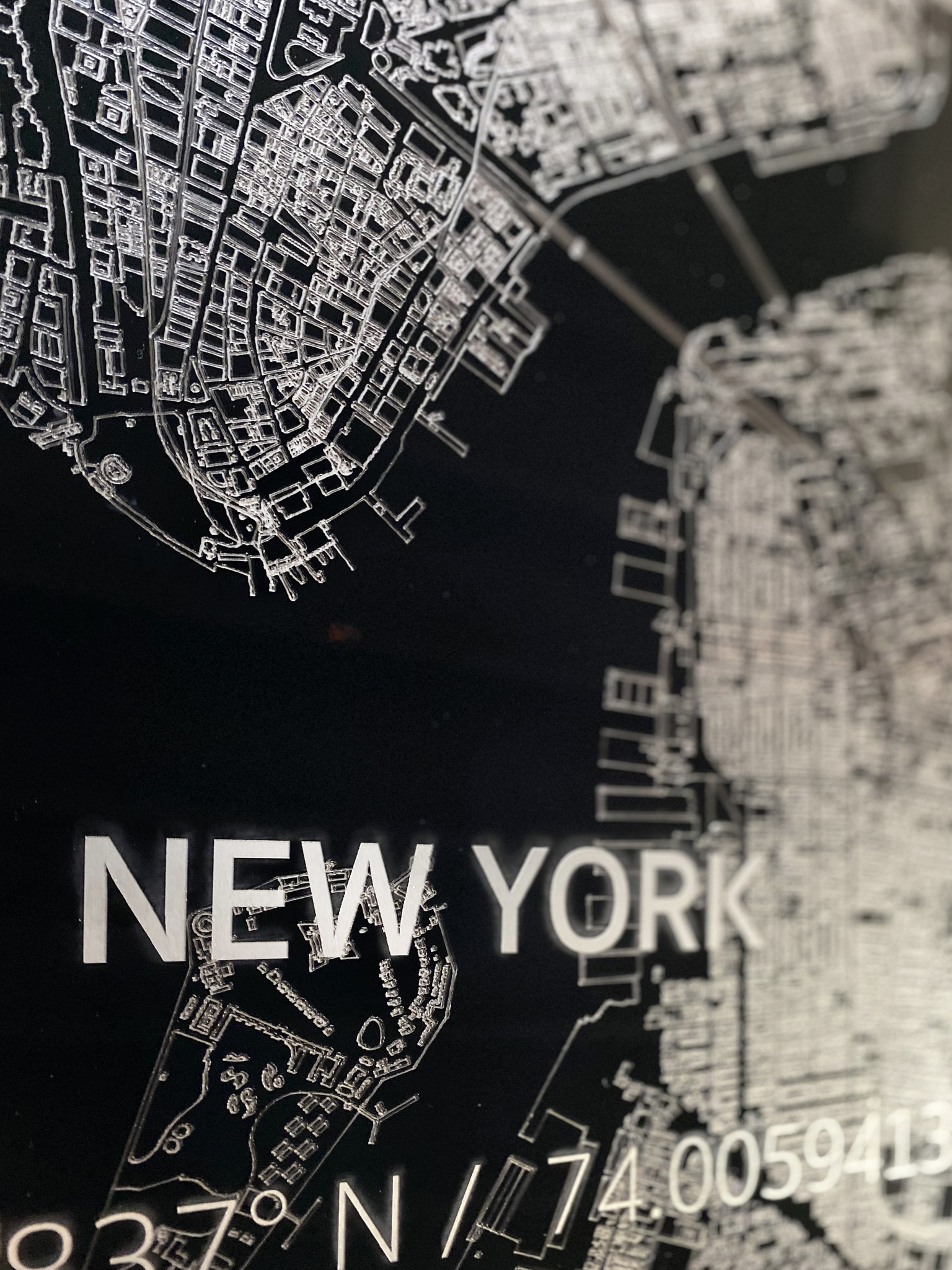 Citymap New York  XL | Aluminium wanddecoratie-3