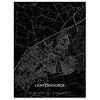 Stadtkarte Lichtenvoorde | Aluminium Wanddekoration