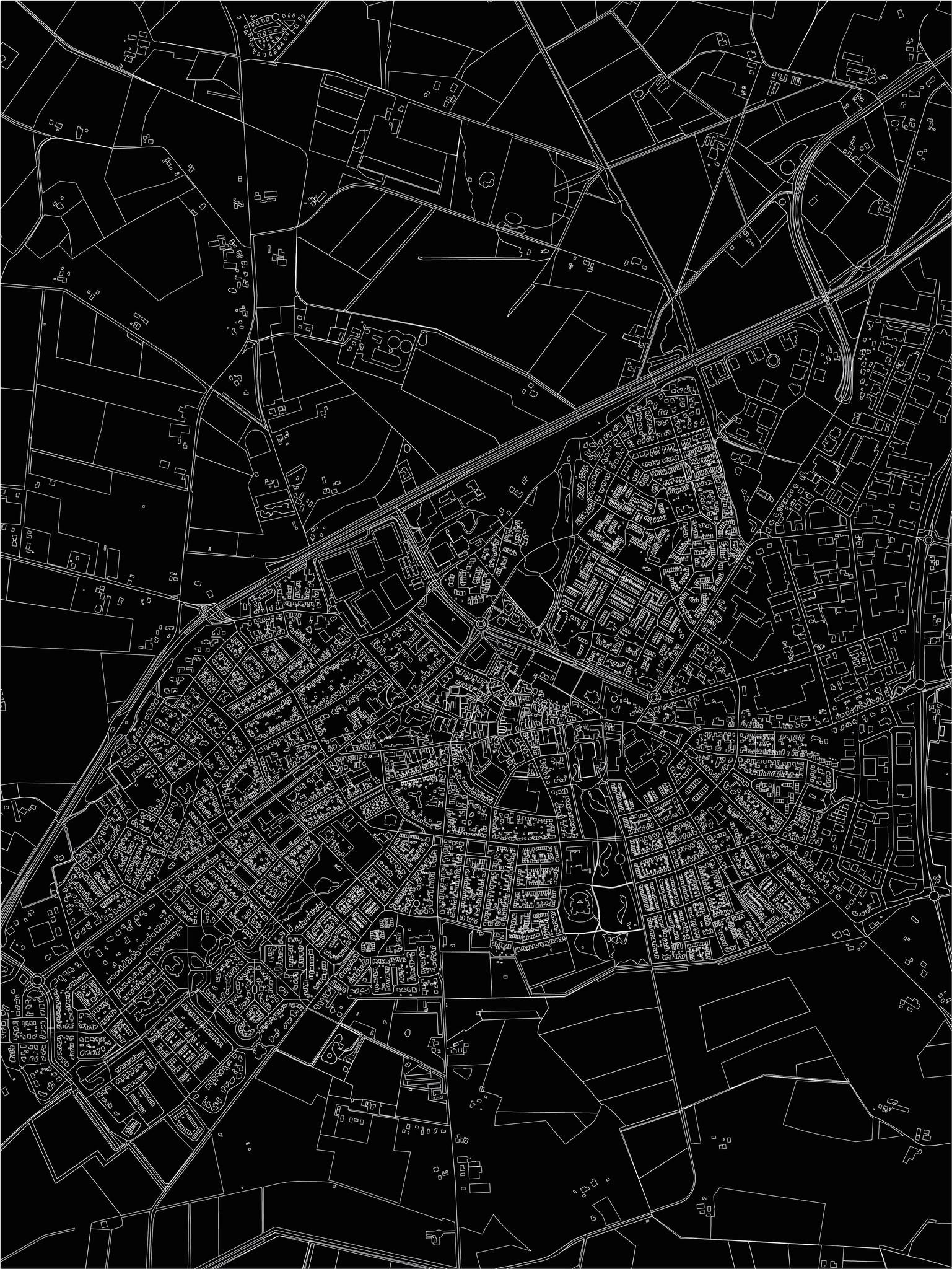 Citymap Lichtenvoorde | Aluminium wanddecoratie-3