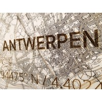 Wooden wall decoration Citymap Antwerp XL