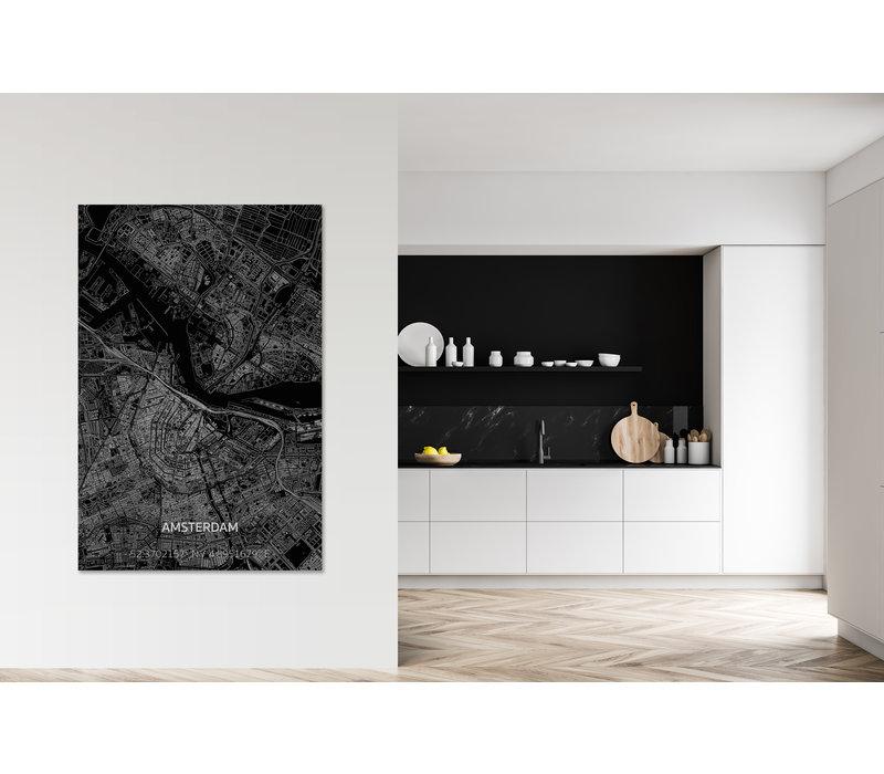 Citymap Amsterdam  XL | Aluminium wanddecoratie