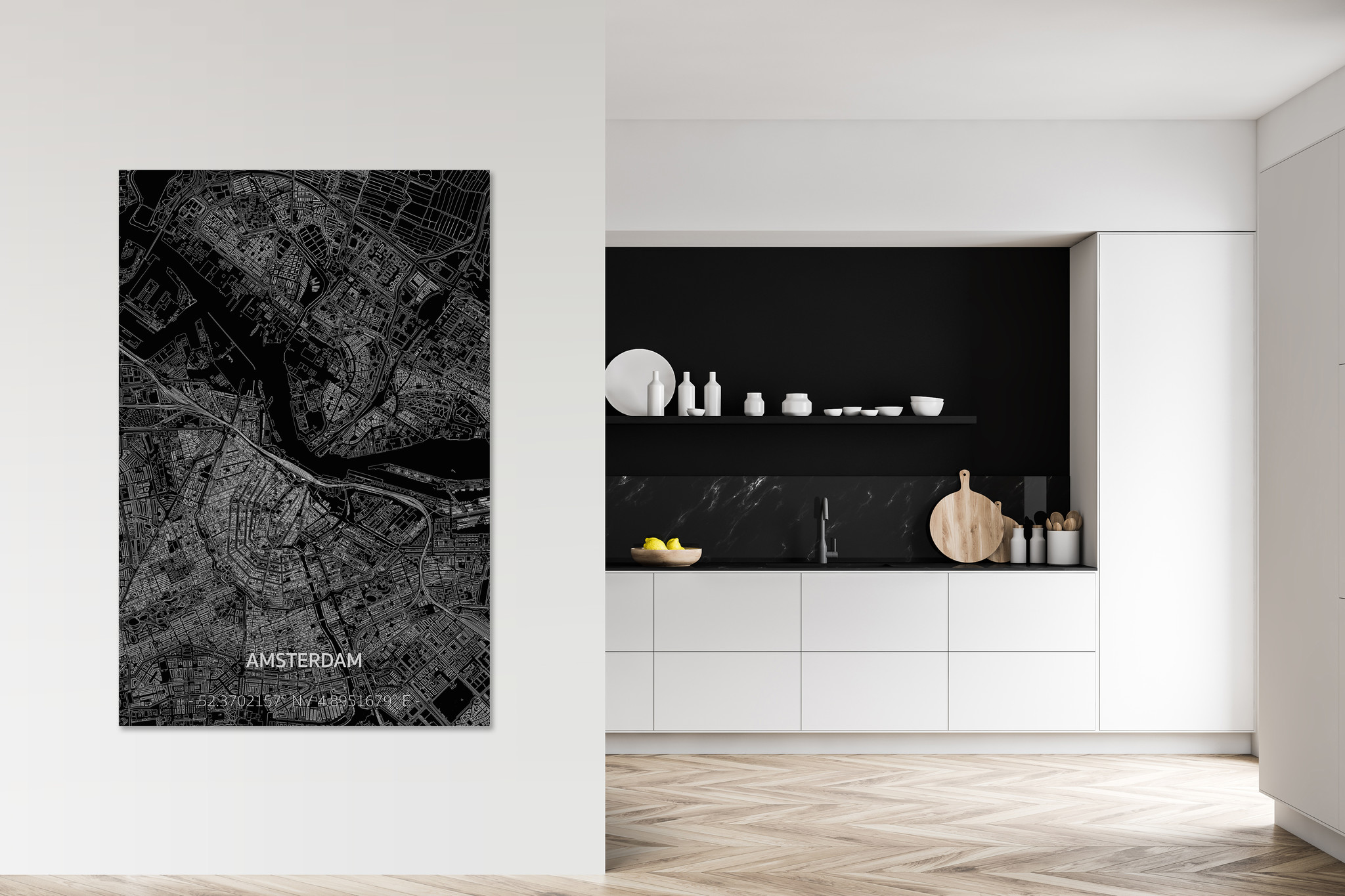 Citymap Amsterdam  XL | Aluminum wall decoration-2