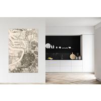 Wanddekoration aus Holz Wandbild Antwerpen XL