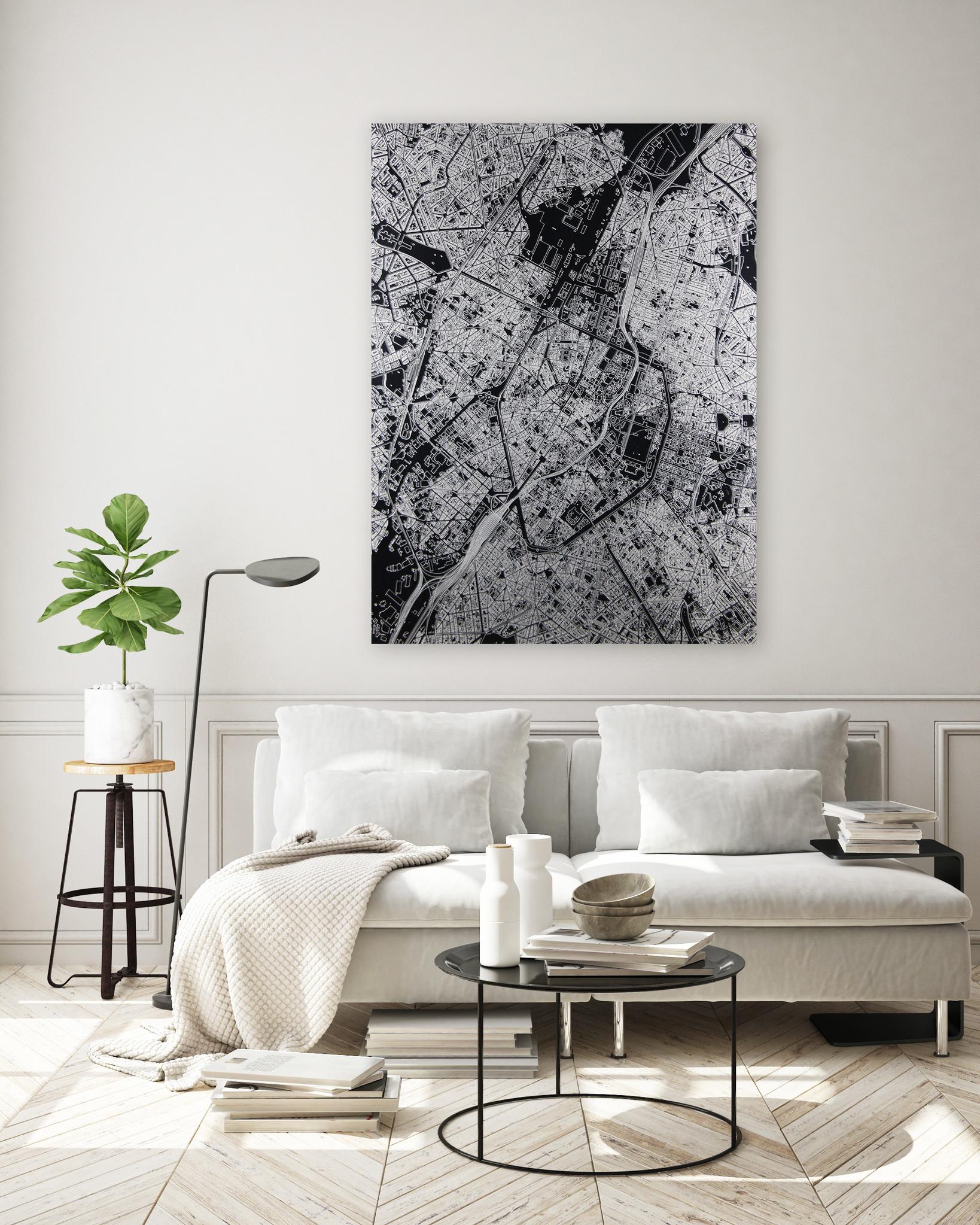 Stadtkarte Porto | Aluminium Wanddekoration-2