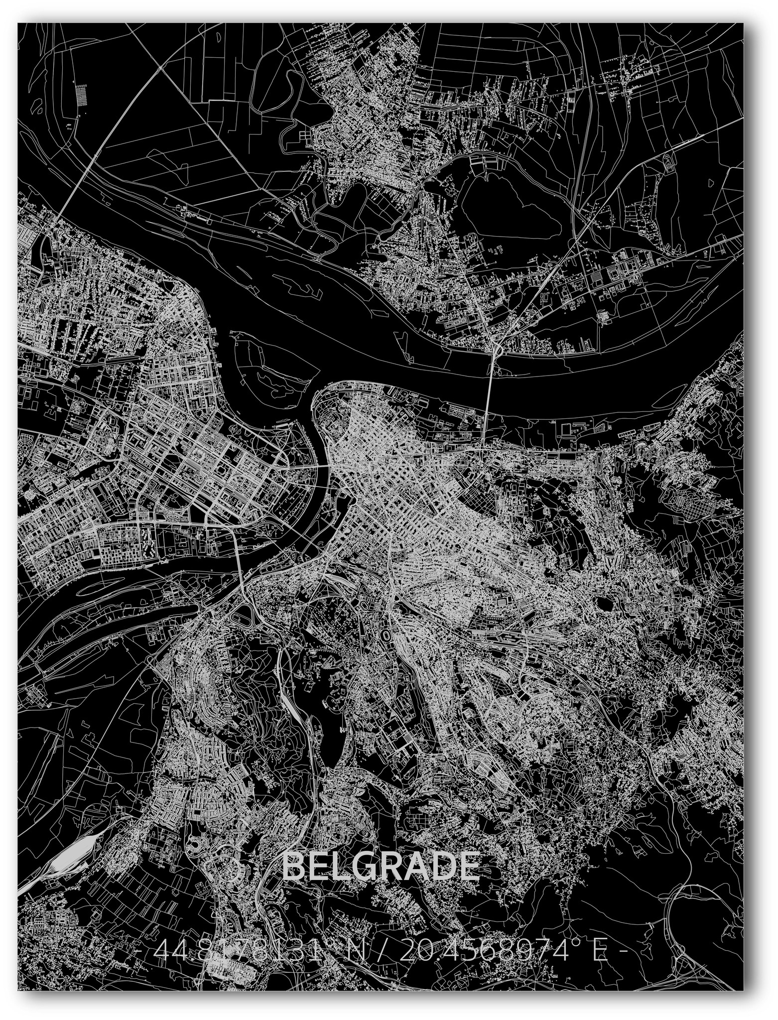 Citymap Belgrade | Aluminum wall decoration-1