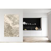 Citymap Amsterdam XL | Houten wanddecoratie