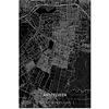 Citymap Amstelveen XL | Aluminium wanddecoratie