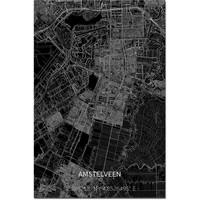 Citymap Amstelveen XL | Aluminum wall decoration