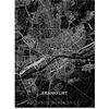 Citymap Frankfurt | Aluminum wall decoration