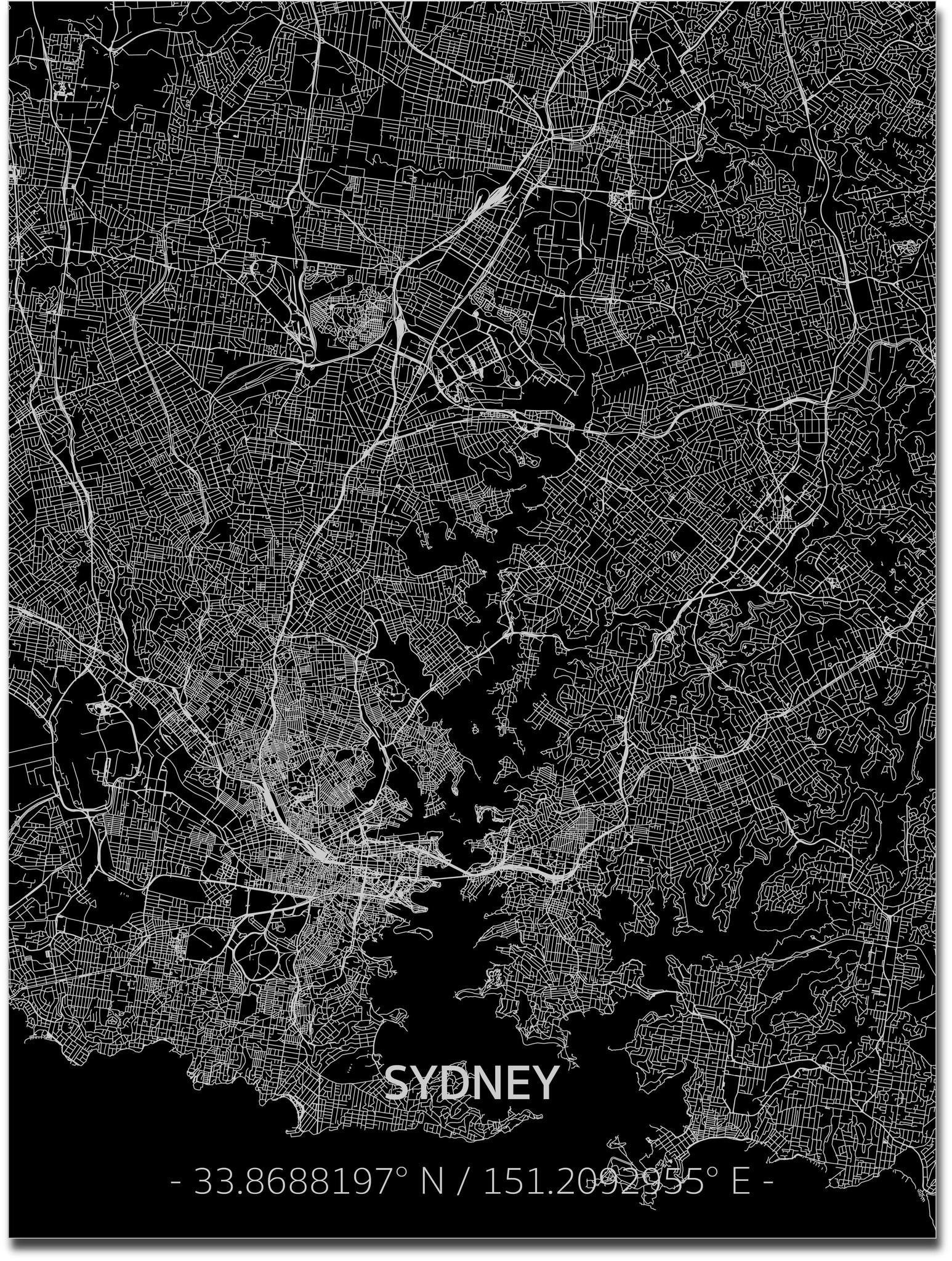 Citymap Sydney | Aluminum wall decoration-1