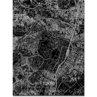 Stadtkarte Tokyo | Aluminium Wanddekoration