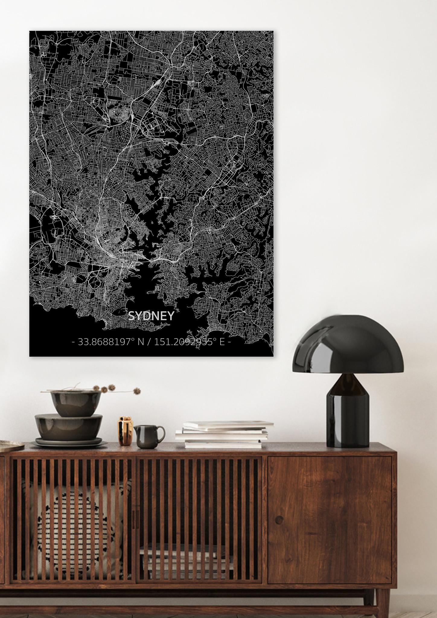 Citymap Sydney | Aluminum wall decoration-2