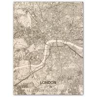 WOODEN WALL DECORATION LONDON CITYMAP