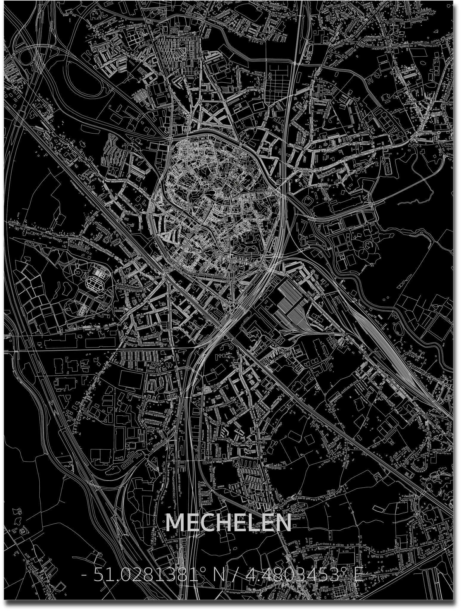 Citymap Mechelen | Aluminum wall decoration-1