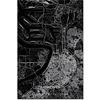 Stadtkarte Antwerpen XL | Aluminium Wanddekoration