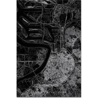 Citymap Antwerp XL | Aluminum wall decoration