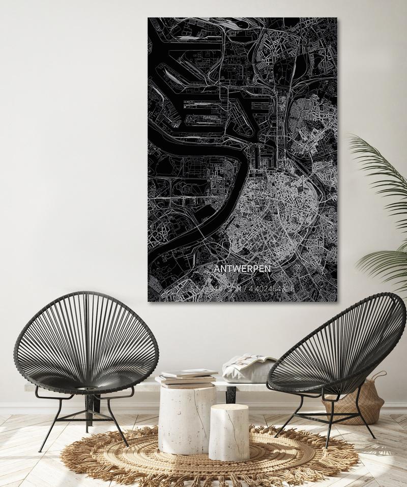 Citymap Antwerp XL | Aluminum wall decoration-2