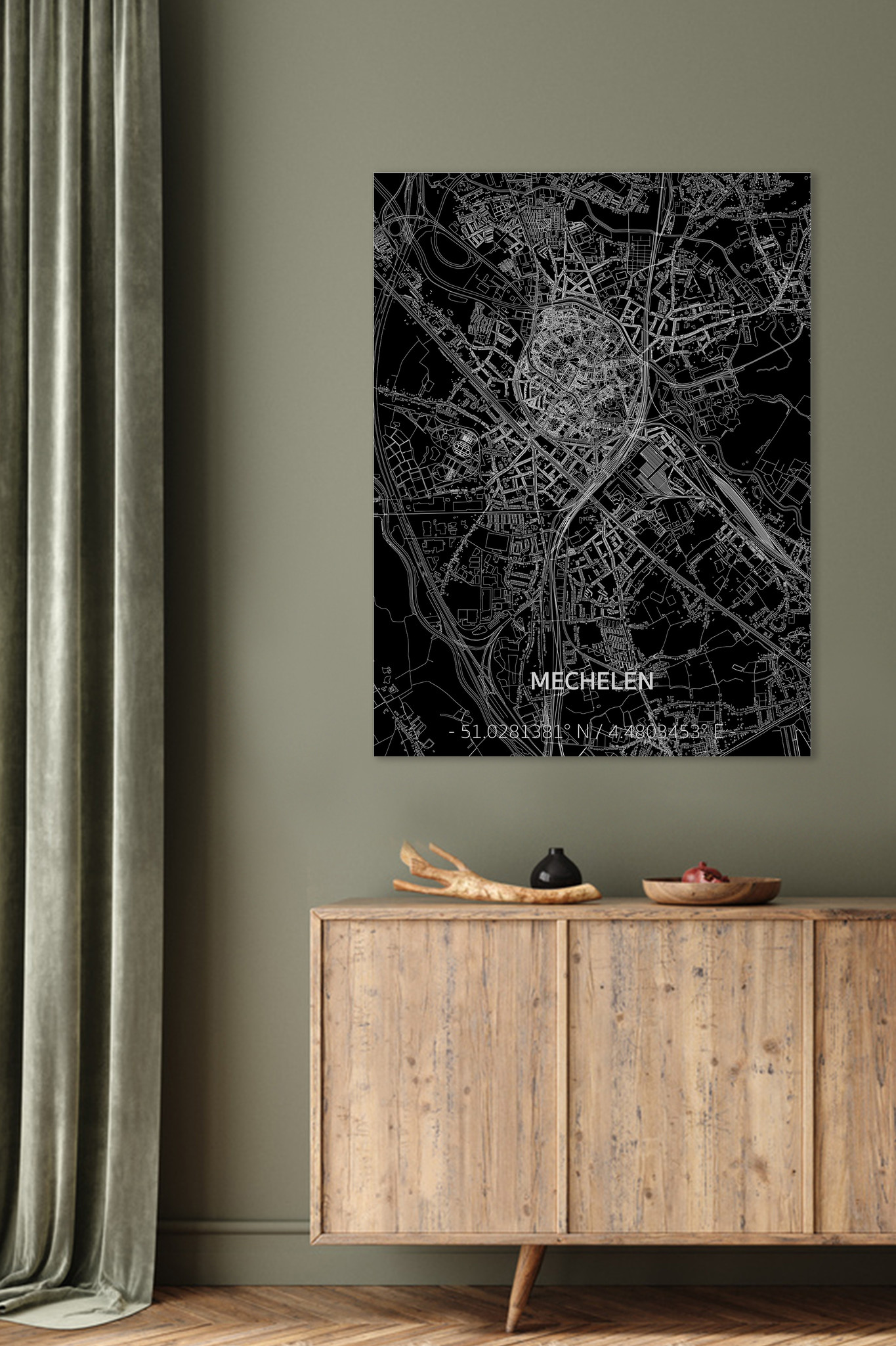 Citymap Mechelen | Aluminum wall decoration-2