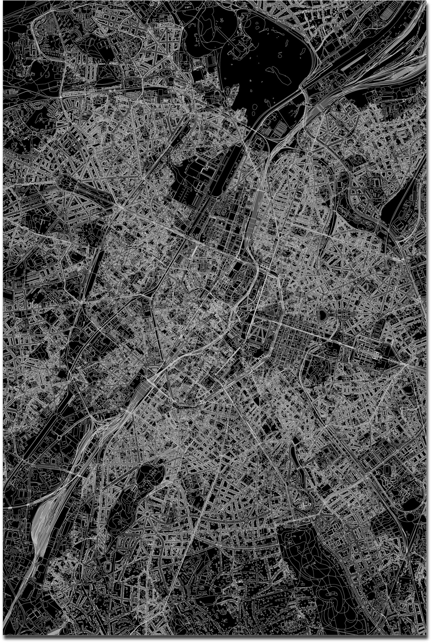 Citymap Brussels XL | Aluminum wall decoration-3