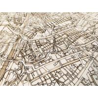 Wooden wall decoration Citymap Brussels XL
