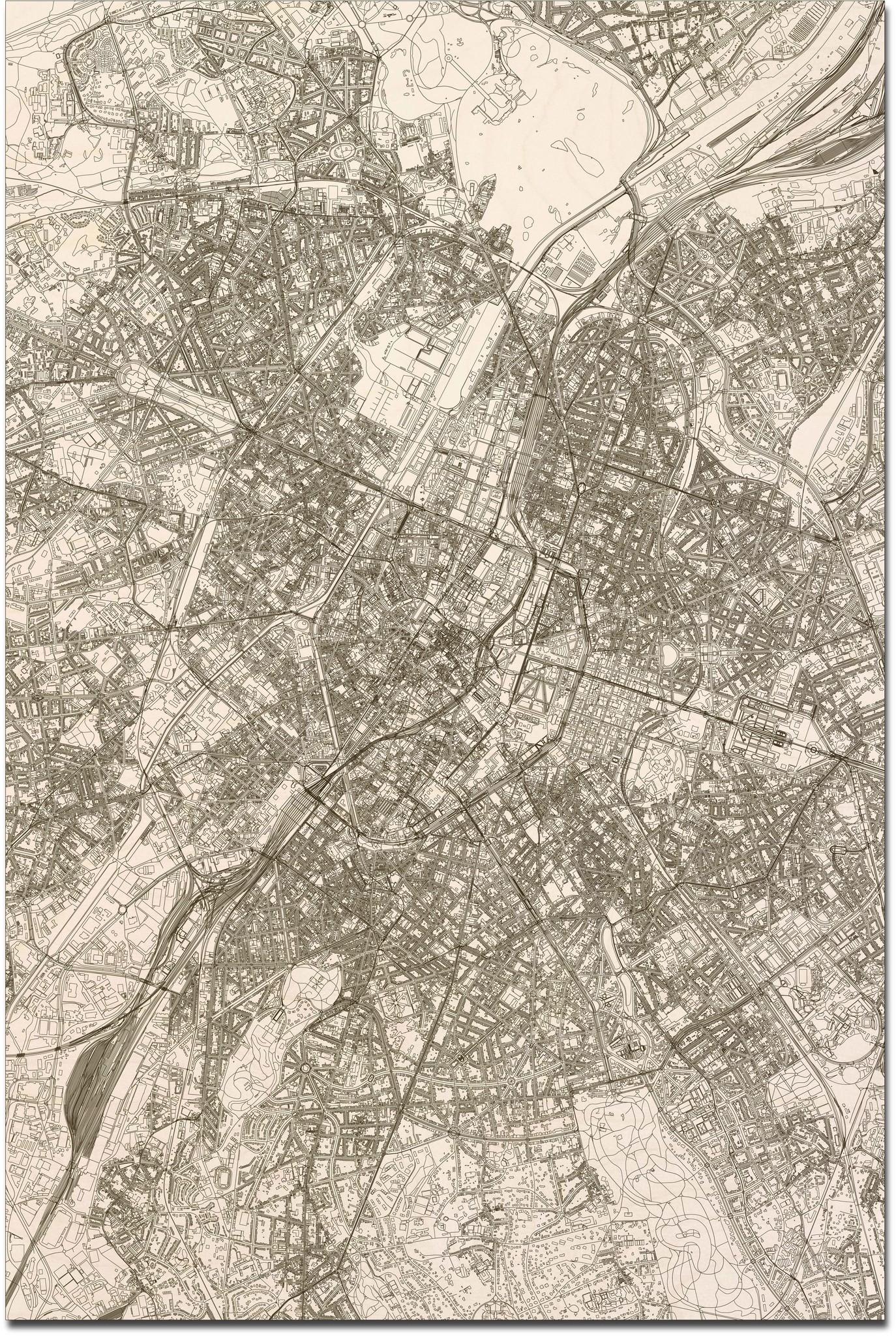 Citymap Brussel XL | Houten wanddecoratie-3
