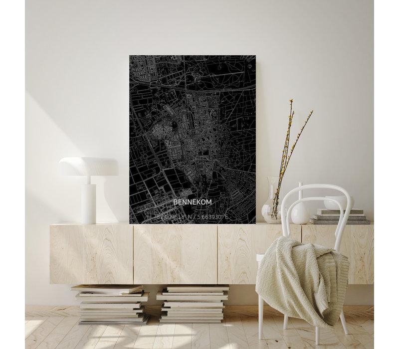 Citymap Bennekom | Aluminium wanddecoratie