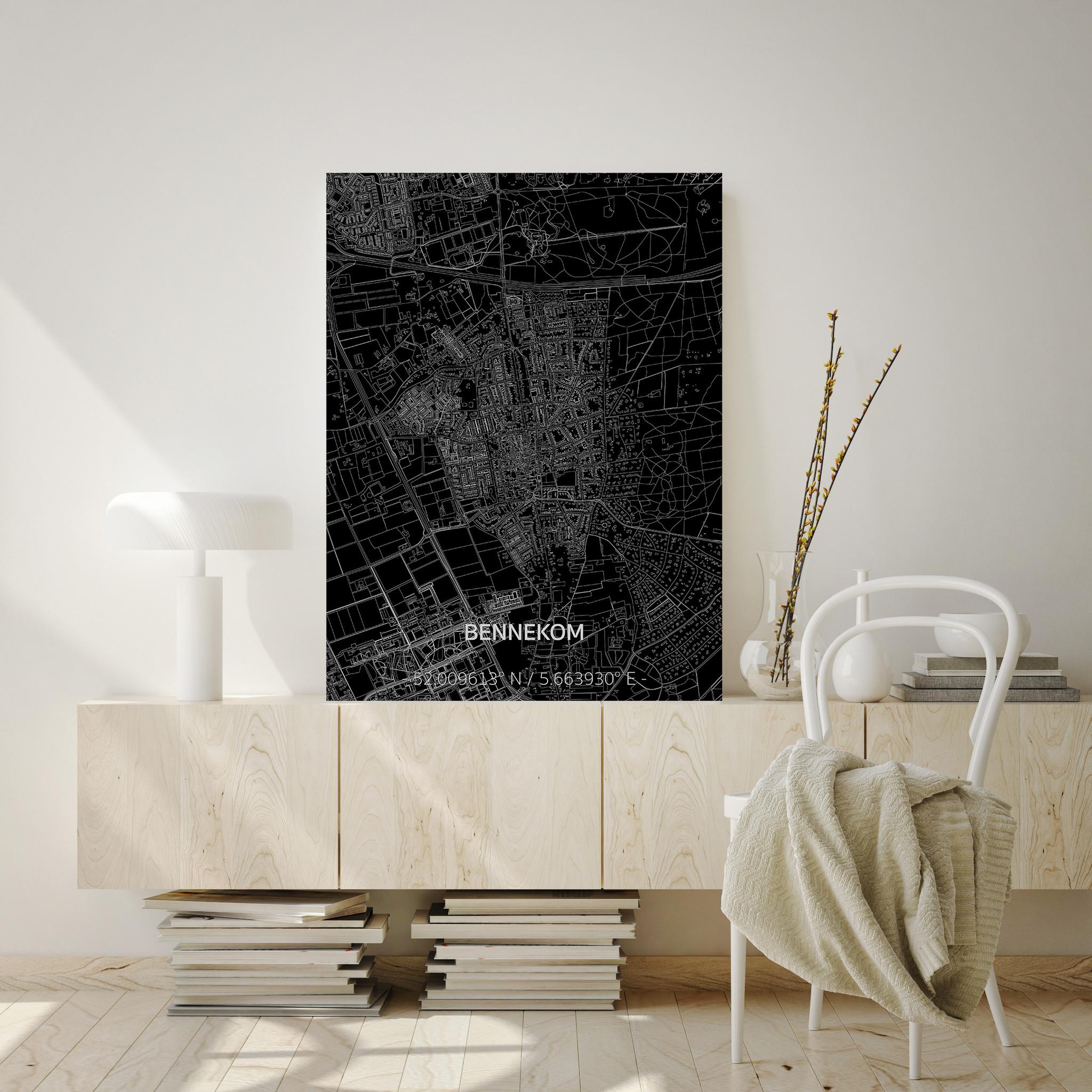 Citymap Bennekom | Aluminium wanddecoratie-2