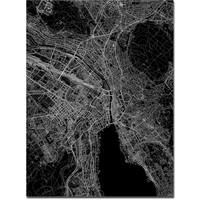 Citymap Zurich   Aluminium wanddecoratie