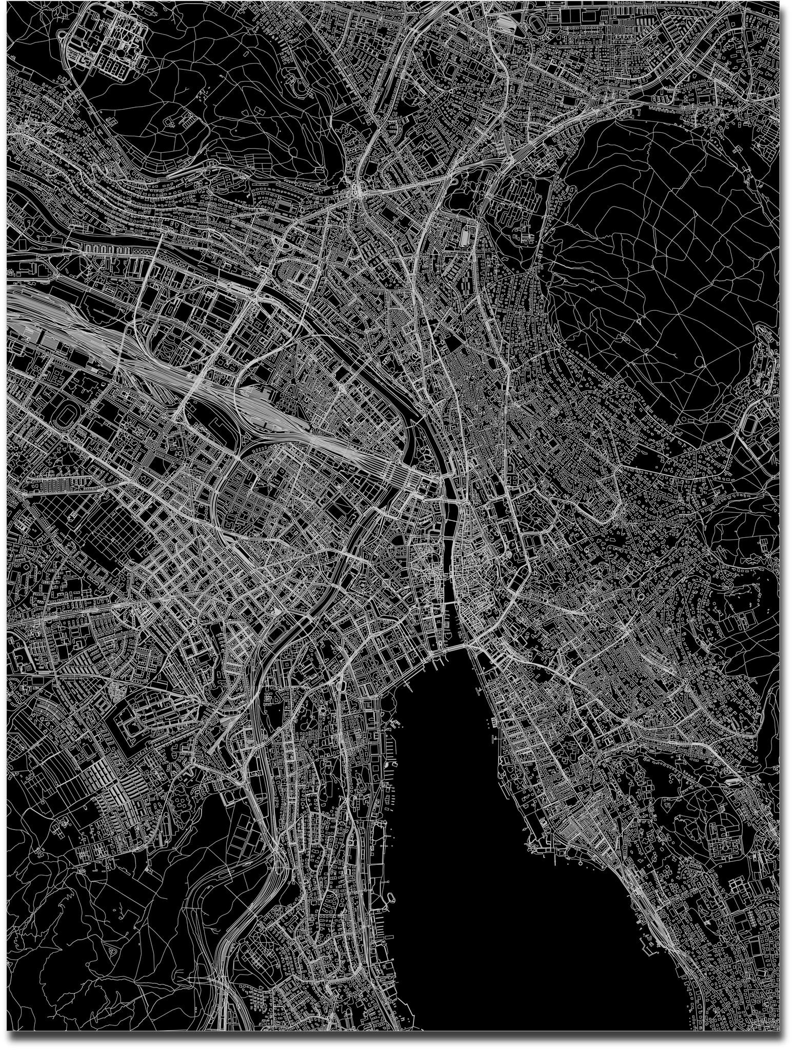 Citymap Zurich | Aluminum wall decoration-3