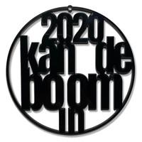 """Christmas bauble """"2020 kan de boom in"""" - set of 4"""