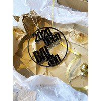 "Christmas bauble ""Geen bal aan"" - set of 2"