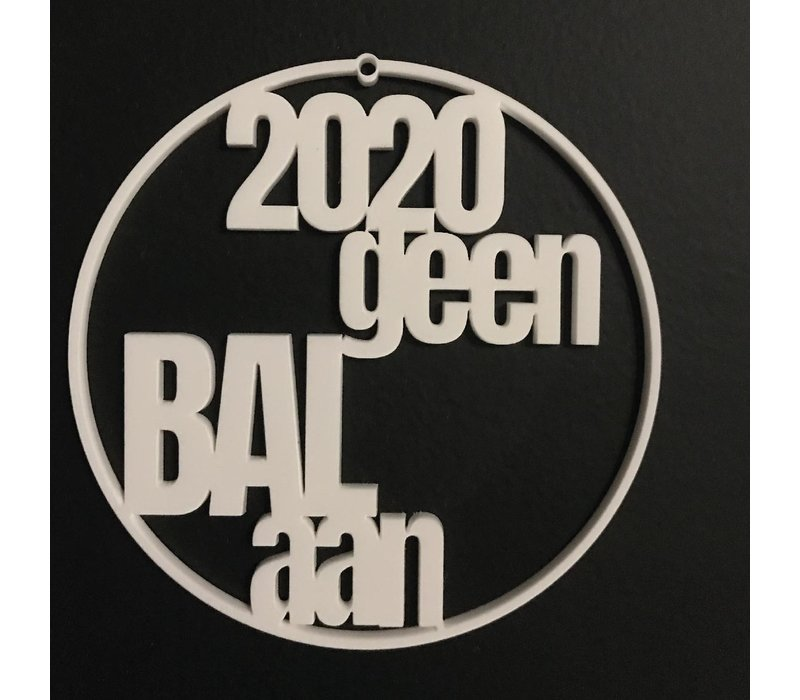 "Christmas bauble ""Geen bal aan"" - set of 4"
