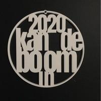 """Weihnachtskugel """"2020 kan de boom in"""""""