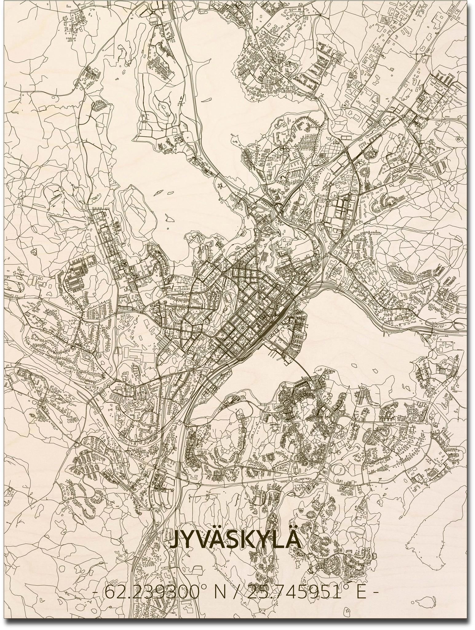Citymap Jyväskylä | wooden wall decoration-1