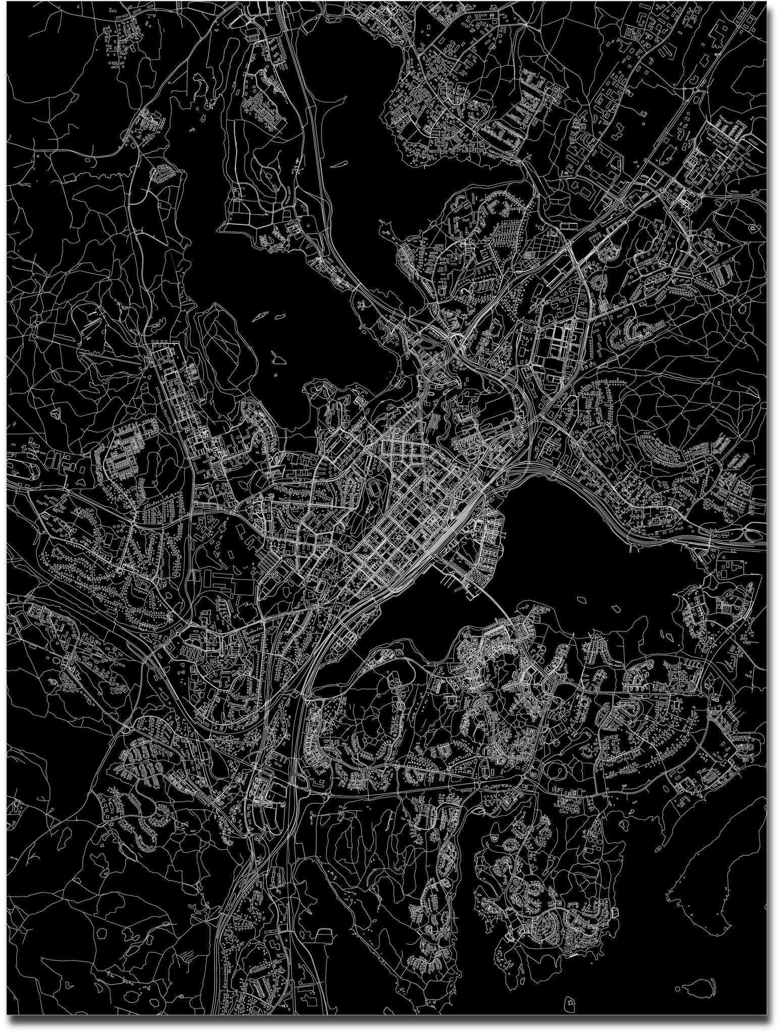 Citymap Jyväskylä | Aluminum wall decoration-3