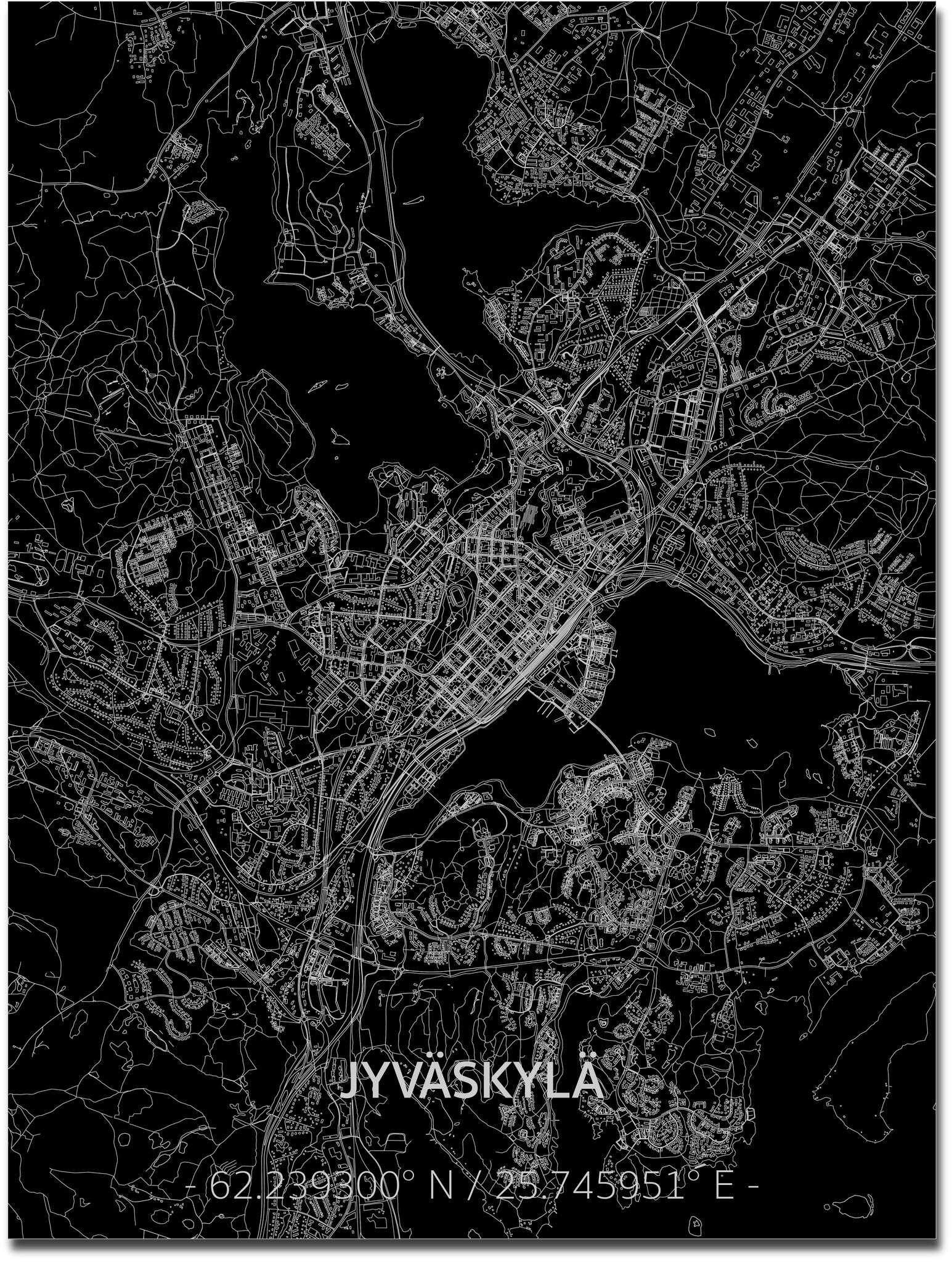 Citymap Jyväskylä | Aluminum wall decoration-1