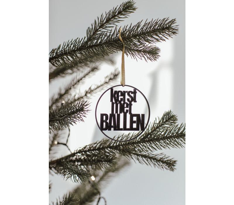 """Weihnachtskugel """"Kerst met ballen"""" - Satz von 4"""